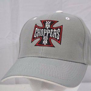 West Coast Chopper Gray Baseball Cap Adjustable St